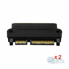 2PC Male 22Pin SATA Serial SATA to Female 29Pin SAS Power Plug Connector Adapter