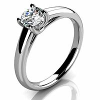 Certified 0.50Ct Round Diamond Solitaire Engagement Ring Crafted in 950 Platinum