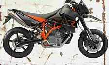 KTM 950 SupermotoR 2007 Aged Vintage SIGN A4 Retro