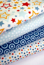 FABRIC BUNDLE RILEY BLAKE LUCKY STAR FLANNEL FABRIC FAT QUARTERS CRAFT FABRIC