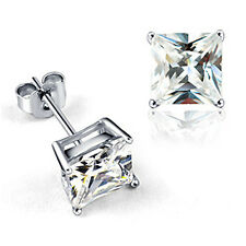 Stud earrings women Men  Silver Plated Gold Plated Swarovski Crystal