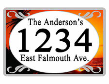 Personalized ADDRESS Sign YOUR NAME Weather Proof Aluminum SIGN FULL COLOR Dawn