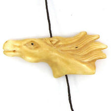 53mm bone carved horse head pendant bead