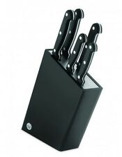 Wiltshire 6 Piece Classic Triple Rivet Stainless Steel Knife Block Set - Black