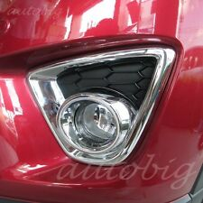 Chrome Front Fog Light Lamp Foglight Cover Trims FOR Mazda CX5 2012-2014