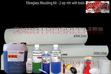Fibreglass 1 Metre Mould making kit + Tools Pack - Resin, Gelcoat, Matting, Wax