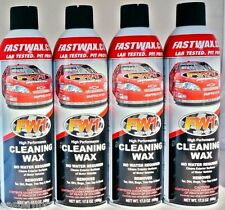 4 Cans FW1 FastWax Waterless Wash and Car Wax Removes Dirt, Adds Shine !