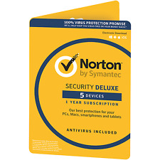Norton Security Deluxe 5 Devices 1 Year Retail Card (EU Region Only)