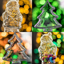 x200 Piece Xmas Tree and Santa Clear Fillable Christmas Decorations Set