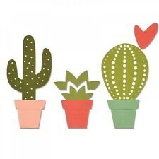 Sizzix Thinlits Cutting Die CACTI 6pk 661700 by Debbie Potter