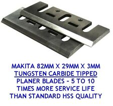 MAKITA 82MM TCT PLANER BLADES for SKIL, HITACHI & RYOBI -TUNGSTEN CARBIDE TIPPED