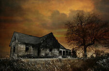 Framed Print - Spooky Dilapidated Old Haunted Country House (Gothic Picture Art)