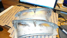 58-62 CORVETTE  LEFT LOWER & UPPER GRILLE EYE  CHROME TRIM MOULDING USED