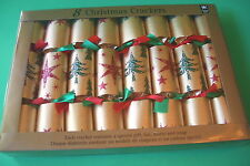8 CHRISTMAS CRACKERS BY MINDS EYE HOLIDAY TABLE FAVORS
