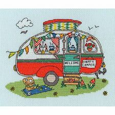 BOTHY THREADS SEW DINKY CARAVAN BY AMANDA LOVERSEED CROSS STITCH KIT - NEW