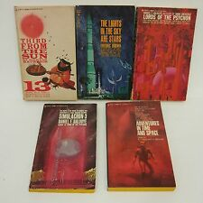 Lot of 5 Vintage BANTAM Sci Fi paperbacks