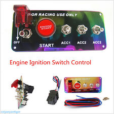 Car Race Ignition Accessory Engine Start Push Button Colorful Switch PanelToggle