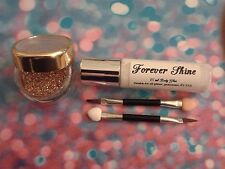 Gold Lip & eye glitter make up set incl. glitter, brush and body glue
