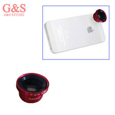 Red Hot Magnetic Detachable Wide Angle/Macro Camera Lens for iPhone 4S 5S 5