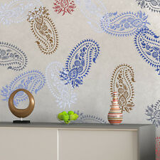 Vintage Paisley Stencil Damask Pattern for DIY Wall Decor, Wallpaper Look