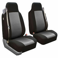 Seat Covers Front Pair for Built-in Seat Belt Seats Gray for Chevy, Ford, GMC