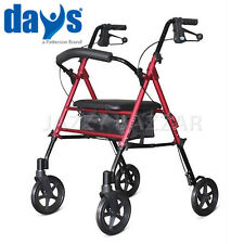"DAYS Aluminium Rollator Walking Frame 7.5"" Wheel Wheeled Mobility Aid Walker"