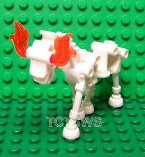 Lego Castle Kingdom, Knights, Harry Potter WHITE SKELETON HORSE w/ Fire Eyes NEW
