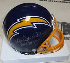 Wes Chandler Signed Chargers Football Mini Helmet PSA/DNA COA Air Coryell Auto'd