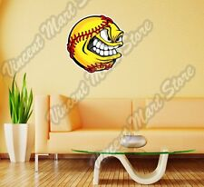 """Smile Fastpitch Softball Pitcher Pitch Wall Sticker Room Interior Decor 22"""""""