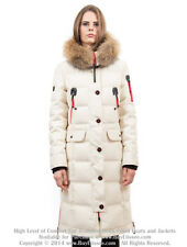 Goose Down Coat Jacket Parka w/ Raccoon Fur sz L / US 10 EU 42 $895 Пуховик Енот