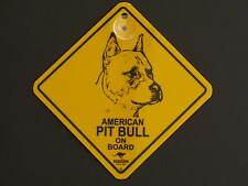 American Pit Bull On Board Dog Breed Yellow Car Swing Sign Gift