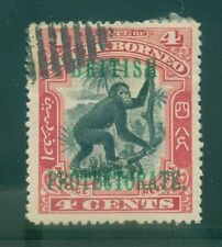[JSC] 1899-1900 BRITISH NORTH BORNEO ~ORANGUTAN #SC104 A48 DP ROSE & BLK