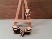 Wooden Scottish Thistle Shape 4mm birch plywood, craft Blank, wood plaque (4cm)