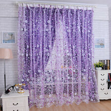 Print Floral Voile Door Curtain Vorhang Window Room Curtain Divider Scarf DE