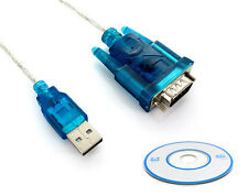 USB RS-232 Konverter Kabel RS232 Adapter DB 9 Win 10 SAT GPS PDA Treiber-CD