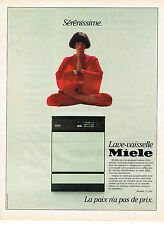 PUBLICITE ADVERTISING 035  1984  MIELE  lave vaisselle