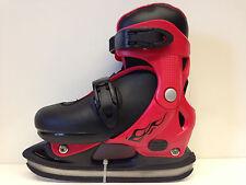 PTX Eislauf Schlittschuhe größenverstellbar 32-35 verstellbar schwarz-rot Kinder