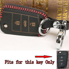 Leather Remote Key Fob Holder Cover For Octavia Fabia Superb Yeti Rapid Scout