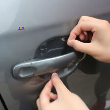 4 Car Door Handle Paint Scratch Protective Clear Adhesive Film Sticker Protector
