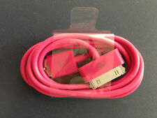 30pin Rose Pink  USB Sync Data Charging Charger Cable for Apple iPhone 4 4S 4G