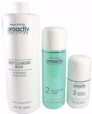 Proactiv 120 Day 3pc Kit cleanser wash toner lotion proactive step system 3-2018