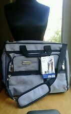 NWT Graco Optimo Duffle Diaper Bag Gray/Silver Crossbody 17 Pockets & Change Pad
