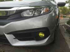 2016 2017 Honda Civic Yellow Fog light TINT PreCut Vinyl Film Overlays Rally JDM