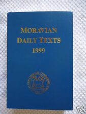 MORAVIAN DAILY TEXTS 1999 Daily Devotional Book of Hymns/ Prayers/Scripture