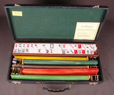 VINTAGE MAH JONGG MAHJONG SET by CARDINAL TILES CLEAN-Faux gator Case-CATALIN