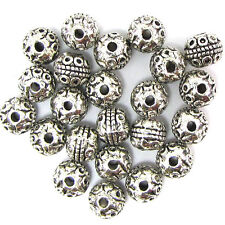 22 8mm silver plated pewter rondelle beads findings