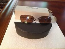 SILHOUETTE SUNGLASSES 8562/65 6112 VINTAGE 1990s BRAND NEW ULTRA LIGHT GLASSES