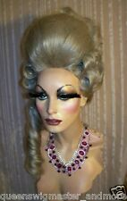 Drag Wig Costumes Big Casanova Dark Grey Pompador & Tail and Curls