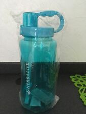 Herbalife 2lt Sports Water Bottle With Straw Exercise Fitness Blue