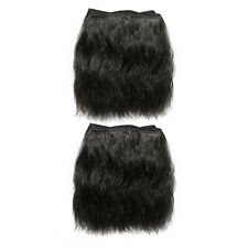 "Natural Afro Hair Extensions Weave On Weft |  2 x 10"" (25 cm) #1B Off Black"